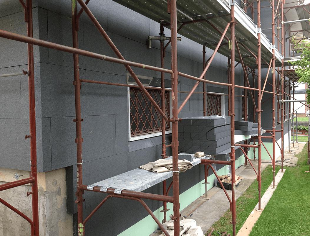 Cappotto per isolamenti termici e acustici - Fratelli Fontana